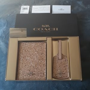 COACH Star Glitter Travel Set - New With Tag